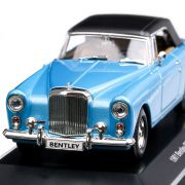 Bentley Continental S2 DHC 1961, macheta auto scara 1:43, bleu cu negru, Lucky Die Cast