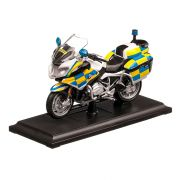 BMW R 1200 RT POLICE Authority UK 2020, macheta motocicleta, scara 1:18, alb, Maisto