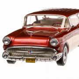 Buick Century Caballero Estate 1957, macheta  auto, scara 1:18, rosu cu bej, BoS-Models