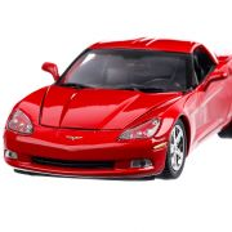 Chevrolet Corvette C6 2005, macheta  auto,  scara 1:24, rosu, Motor Max