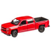 Chevrolet Silverado 2017, macheta auto scara 1:24, rosu, window box, Welly
