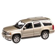 Chevrolet Tahoe 2008, macheta SUV, scara 1:24, bej metalizat, Welly