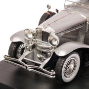 Duesenberg II Model J Supercharged 1934, macheta auto scara 1:18, argintiu, window box, GreenLight