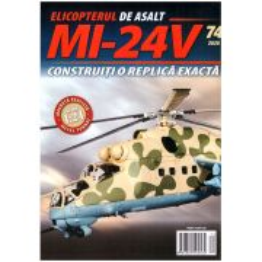 Macheta Elicopterului de asalt MI-24V kit construibil Eaglemoss nr.74
