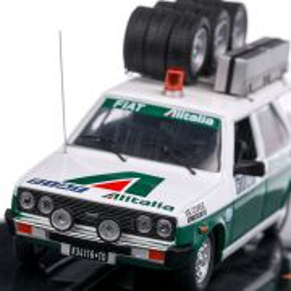 Fiat 131 Panorama Alitalia Assistance 1977, macheta  autospeciala,  scara 1:43, alb cu verde, IXO