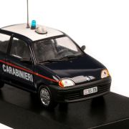 Fiat 600 Elettra Carabinieri 2003, macheta auto, scara 1:43, albastru inchis, Magazine models