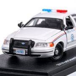 Ford Crown Victoria Police Interceptor United States Postal Service 2010, macheta auto, scara 1:43, alb, GreenLight