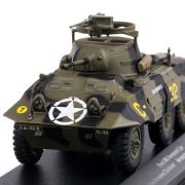 Ford M8 vehicul blindat 1944, macheta vehicul militar, verde, scara 1:43, Magazine Models