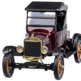Ford Model T Runabout 1925, macheta auto scara 1:24, visiniu cu negru, MotorMax