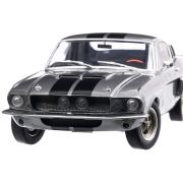 Ford Shelby Mustang GT-500 1967, macheta auto, scara 1:18, gri cu dungi negre, Solido