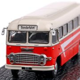 Ikarus 311 1960, macheta autobuz, scara 1:72, rosu, Atlas