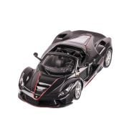 Ferrari Laferrari Aperta, macheta auto scara 1:24, negru, window box, Burago