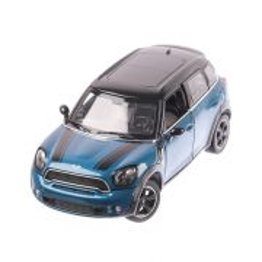 Mini Cooper S Countryman R60 2018, macheta auto scara 1:24, albastru cu negru, window box, Rastar