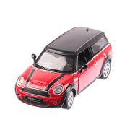 Mini Clubman 2014, macheta auto scara 1:24, rosu cu negru, window box, Rastar