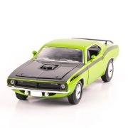 PLYMOUTH CUDA 1970 scara 1:24, verde cu negru, window box, New Ray