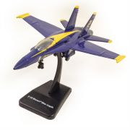 Avion F-18 Hornet Blue Angel 2006, macheta avion, scara 1:72, albastru cu galben, New Ray