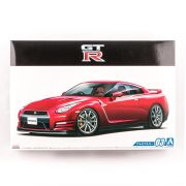 NISSAN R35 GT-R PURE EDITION '14, scara 1:24, Aoshima, kit plastic