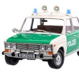 Lada 2106 Politia Germana 1981, macheta auto, scara 1:18, alb cu verde, Triple9 Collection