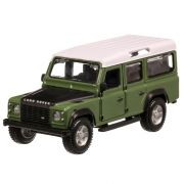 Land Rover Defender 110 1993, macheta auto scara 1:32, verde cu alb si negru, Bburago-2