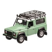 Land Rover Defender 2015 , macheta auto, scara 1:24, verde cu alb, Welly