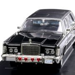 Lincoln Continental Reagan car 1972, macheta limuzina prezidentiala scara 1:24, negru, Lucky Die Cast