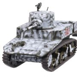 M5A1 Stuart 1944, macheta vehicul militar, scara 1:72, camuflaj de iarna, Magazine Models