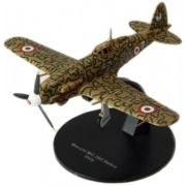 Macchi MC.205 Veltro Italy 1943, macheta avion scara 1:72, camuflaj verde cu negre, Atlas