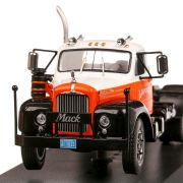 Mack B 61 1953 macheta  autocamion, scara 1:43, alb cu portocaliu, IXO