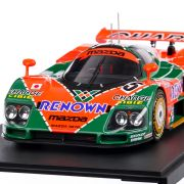 Mazda 787B #55 Weidler/Herbert/Gachot Winner 24h Le Mans 1991, macheta auto, scara 1:18, portocaliu, CMR