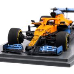 McLaren MCL35 F1 Team #55 Carlos Sainz Jr. 2nd Italian GP 2020, macheta auto, scara 1:43, portocaliu cu albastru, Spark