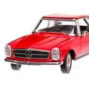 Mercedes 230 SL (W113), 1963, macheta auto scara 1:24, rosu, window box, Welly