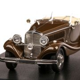 Mercedes-Benz 290 Roadster (W18) 1937, macheta auto, scara 1:43, maro inchis, Neo