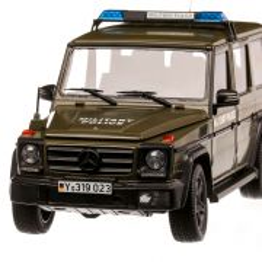 Mercedes-Benz G-Klasse (W463) Politia Militara 2015, macheta autospeciala scara 1:18, verde mat, iScale