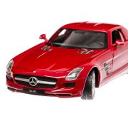 Mercedes-Benz SLS AMG 2010, macheta auto, scara 1:24, rosu, Welly