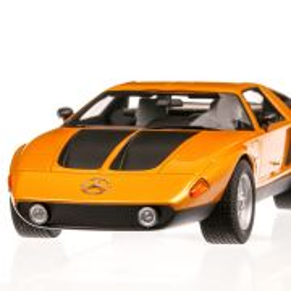 Mercedes C111-II 1970, macheta  auto, scara 1:18, portocaliu metalizat, BoS-Models