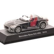 Mercedes-Benz SLS AMG 2010, macheta auto, scara 1:43, transparent, Atlas