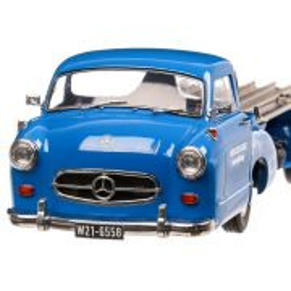 "Mercedes-Benz Racing Car Transporter ""The blue wonder""1955, macheta autospeciala scara 1:18, albastru, iScale"