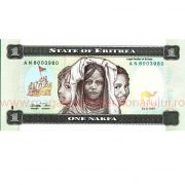 Monede si Bancnote de pe Glob Nr.43 -  ERITREEA - 1 nafka eritreeana