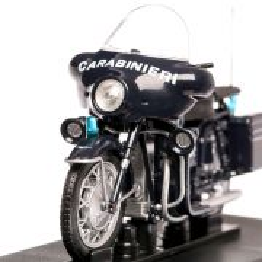 Moto Guzzi 750 V7 Carabinieri 1966, macheta auto scara 1:24, albastru inchis, Magazine Models