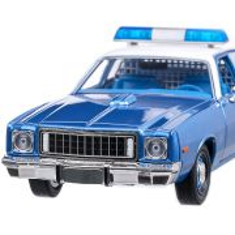 Plymouth Fury Arkansas State Police 1975, macheta auto, scara 1:24, alb cu albastru, GreenLight