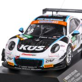 Porsche 911 GT3 R 2018, #18 Bachler-De Leener ADAC GT Masters Nurburgring macheta auto, scara 1:43, alb, CMR