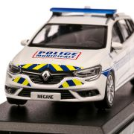 Renault Megane Estate Police Municipale 2016, macheta  autospeciala, scara 1:43, alb, Norev