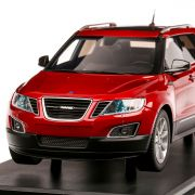 Saab 9-4x Limited Edition 2011, macheta SUV, scara 1:18, visiniu, DNA