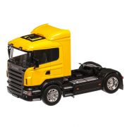 Scania R470 2009, macheta cap tractor scara 1:32, galben, Welly