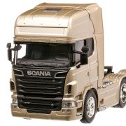 Scania R730 V8 (6x4), macheta camion, scara 1:32, auriu, Welly