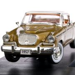 Studebaker Golden Hawk 1957, macheta auto, scara 1:32, auriu, Signature Models