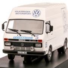 Volkswagen LT35 LWB VW Motorsport Rally Assistance1980, macheta  autoutilitara, scara 1:43, alb, IXO