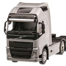 Volvo FH 500 (6x4), macheta camion, scara 1:32, argintiu, Welly
