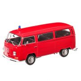 Volkswagen Bus T2 Pompieri 1972, macheta auto, scara 1:24, rosu, Welly