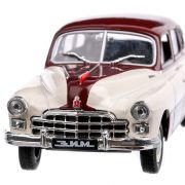 Zim-12 Gaz 1952, macheta auto, rosu cu crem, scara 1:43, Magazine Models